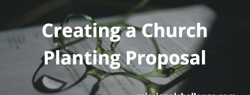 Creating a Church-Planting Proposal   missionalchallenge.com