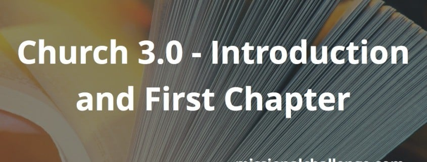 Church 3.0 - Introduction and First Chapter | missionalchallenge.com